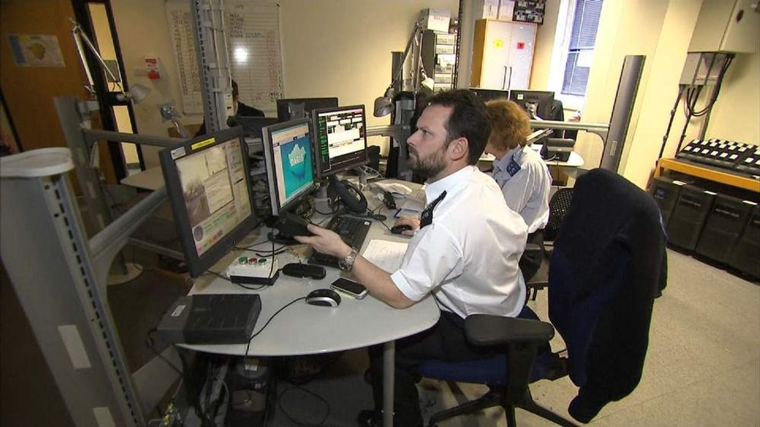 Hendon police station control centre