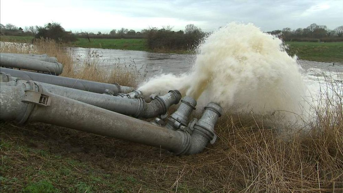 Pumping water in Somerset