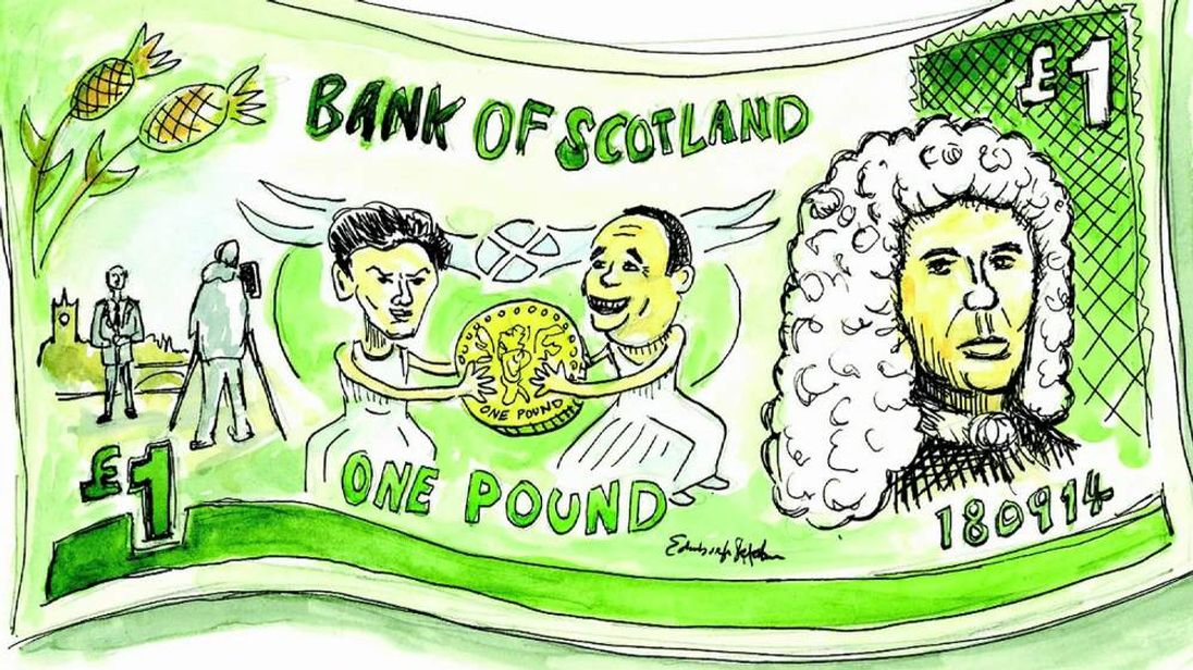 Bank of Scotland mock-up graphic