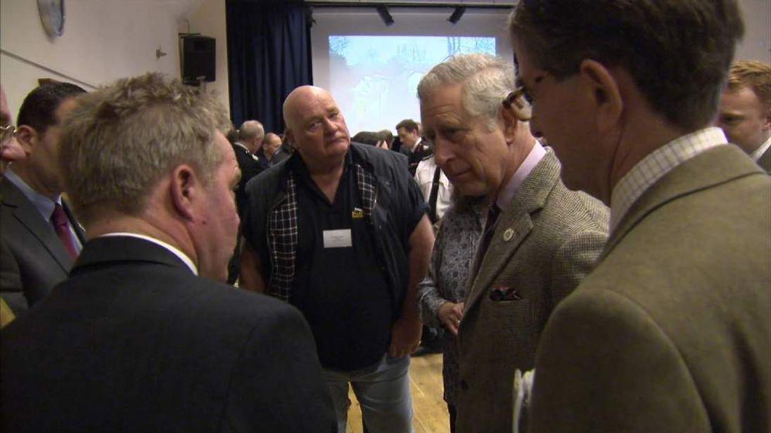 Prince Charles visits flood-stricken Somerset