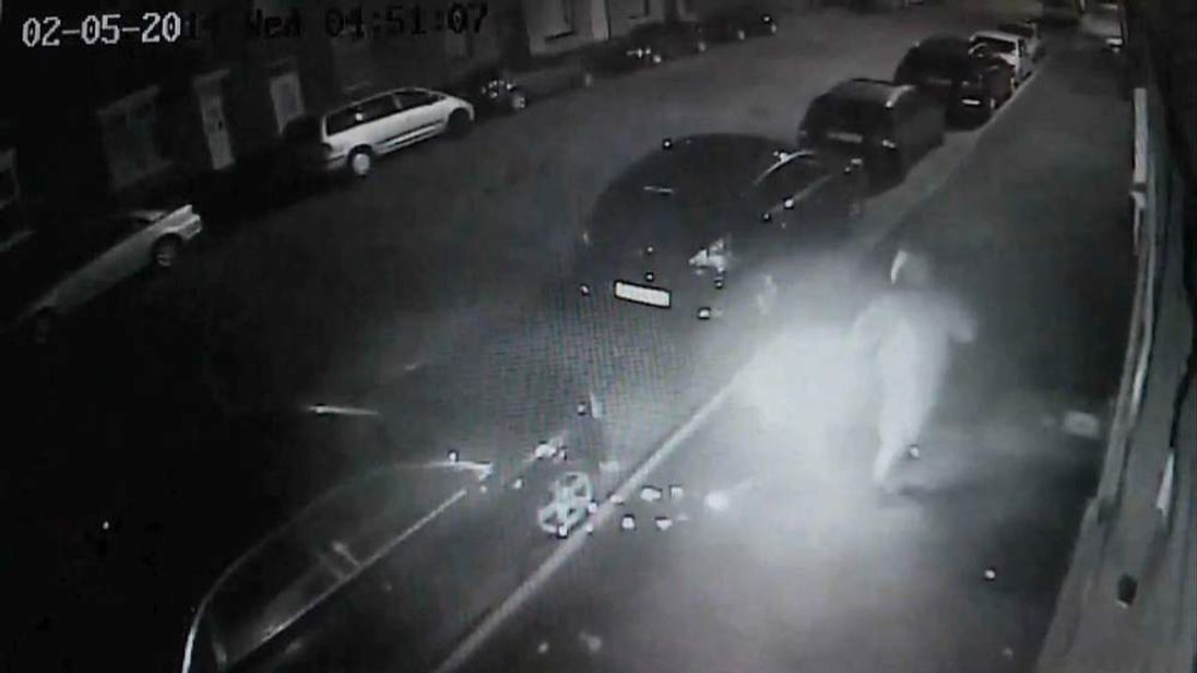 Bungling arsonist sets himself on fire during an attack in Rochdale
