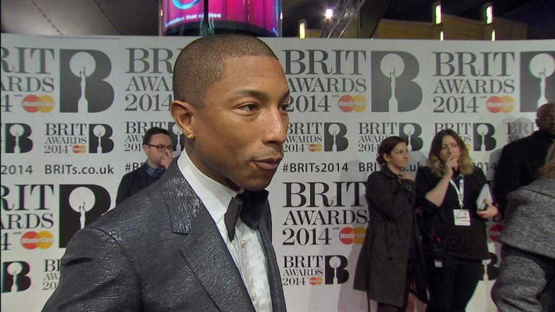 Pharrell Williams Speaks To Sky News On The Red Carpet