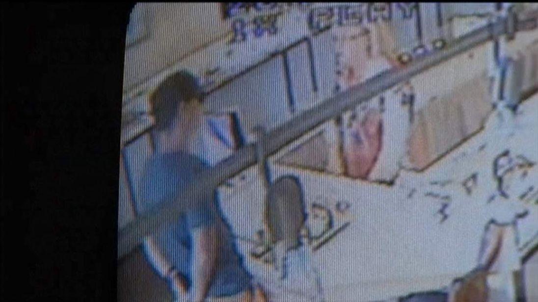 CCTV of diamond being stolen in Australia