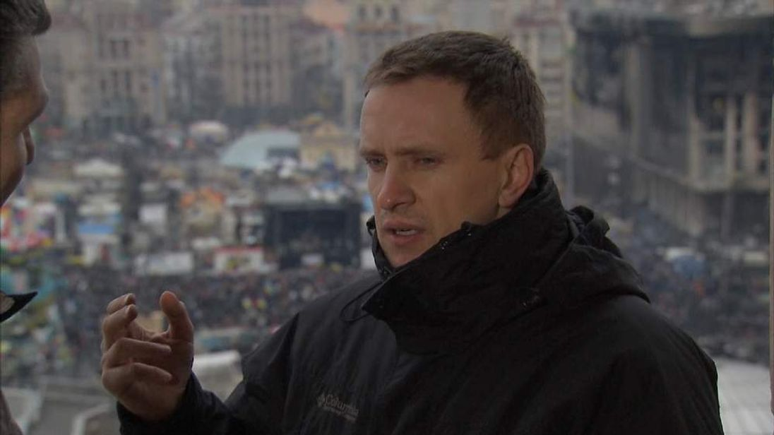 UKRAINE PROTEST Roman Zhuk screengrab