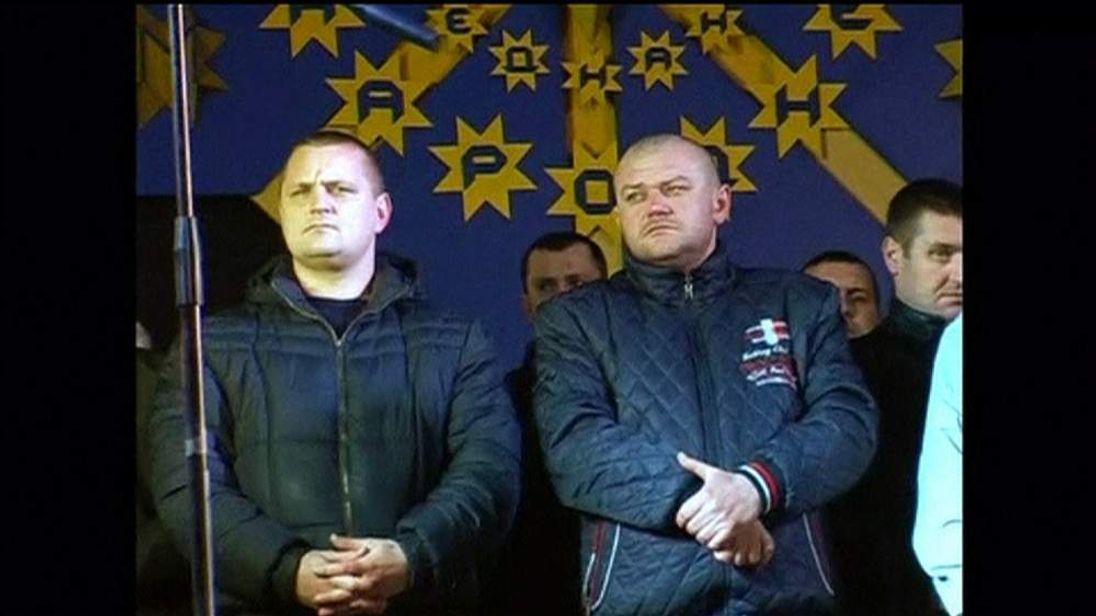 Ukraine riot police pray for forgiveness
