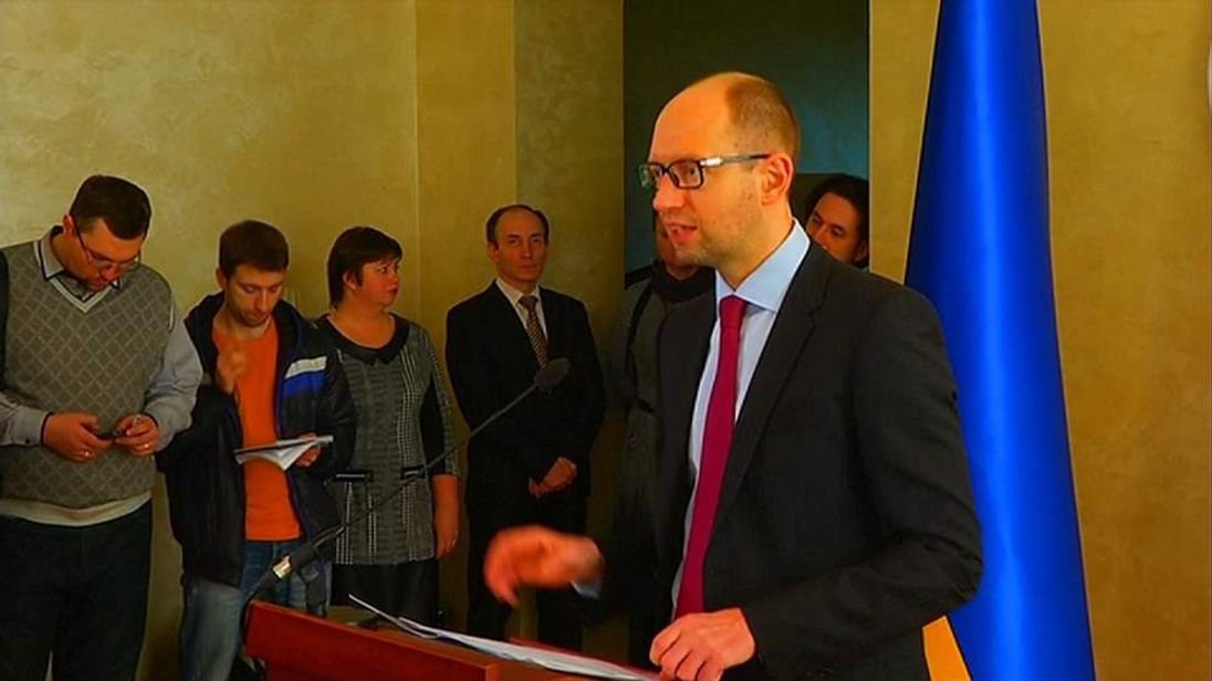 070314 UKRAINE PM ARSENIY YATSENYUK AT EU
