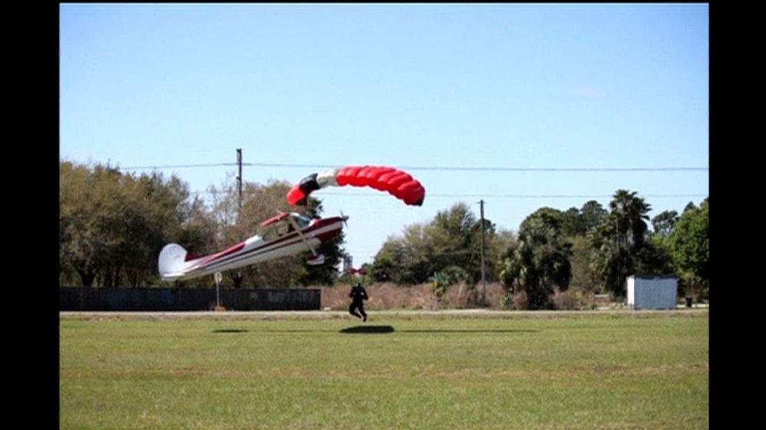 Cessna Plane Crashes Into A Skydiver