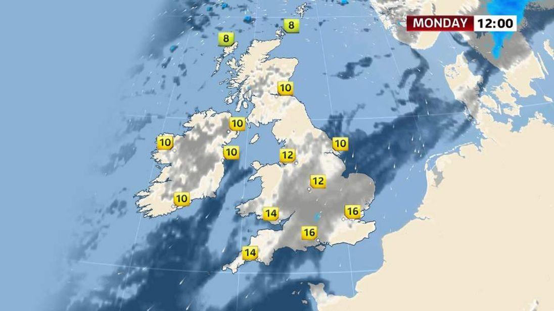 Sky News weather forecast