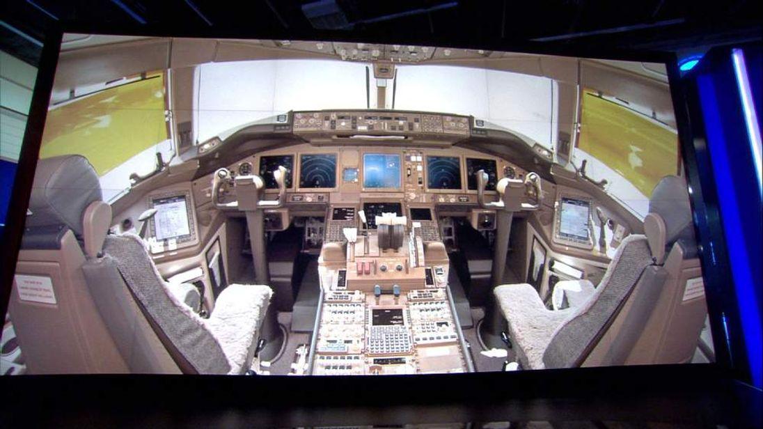 Inside a cockpit