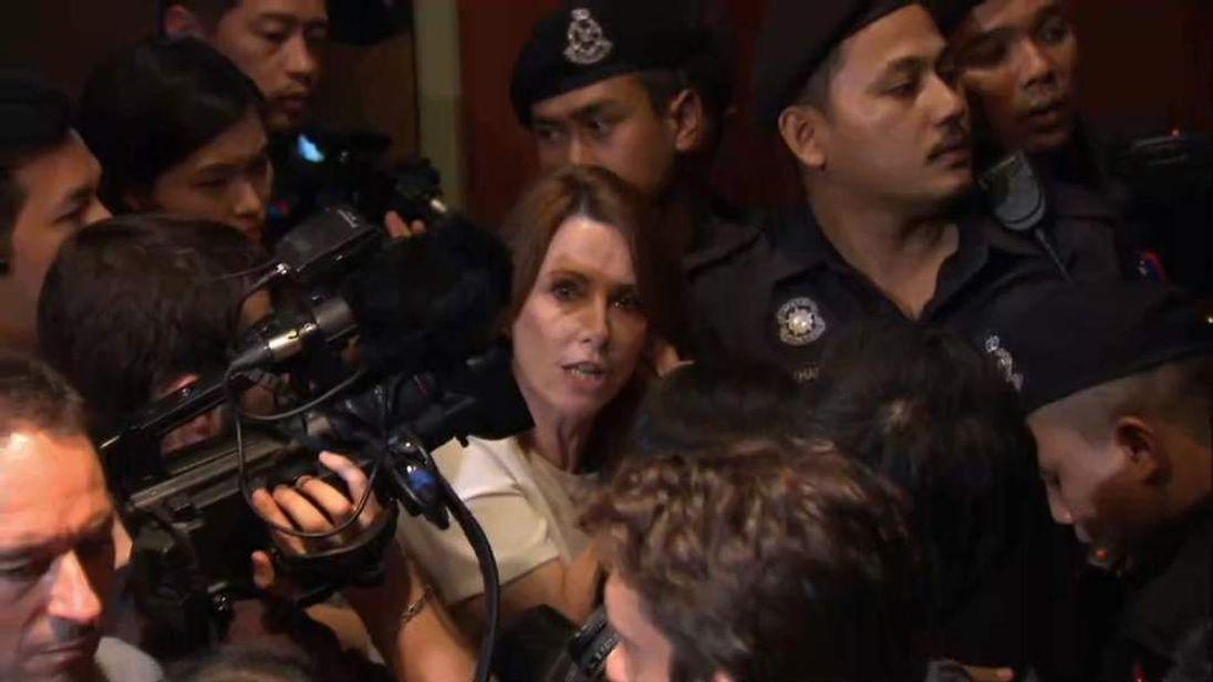 Kay Burley in the media scrum