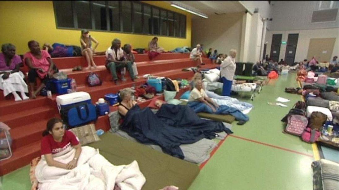 People in emergency shelter in northern Queensland, Australia