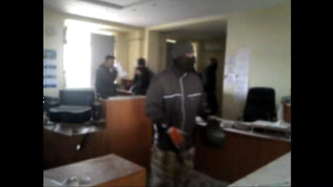 Building occupied in Horlivka, Ukraine