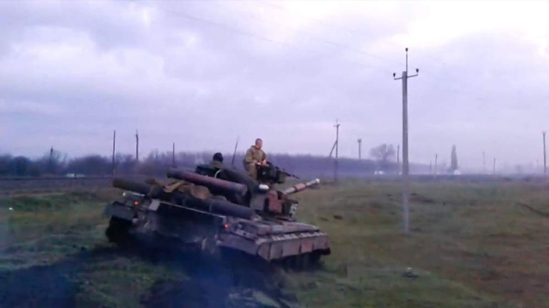 Tank stand-off in eastern Ukraine