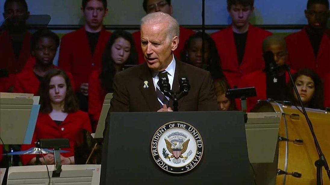 Vice President Joe Biden Speaks At The Anniversary Of The Boston Bombings