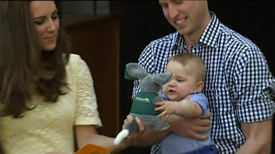 Prince George With Toy Bilby