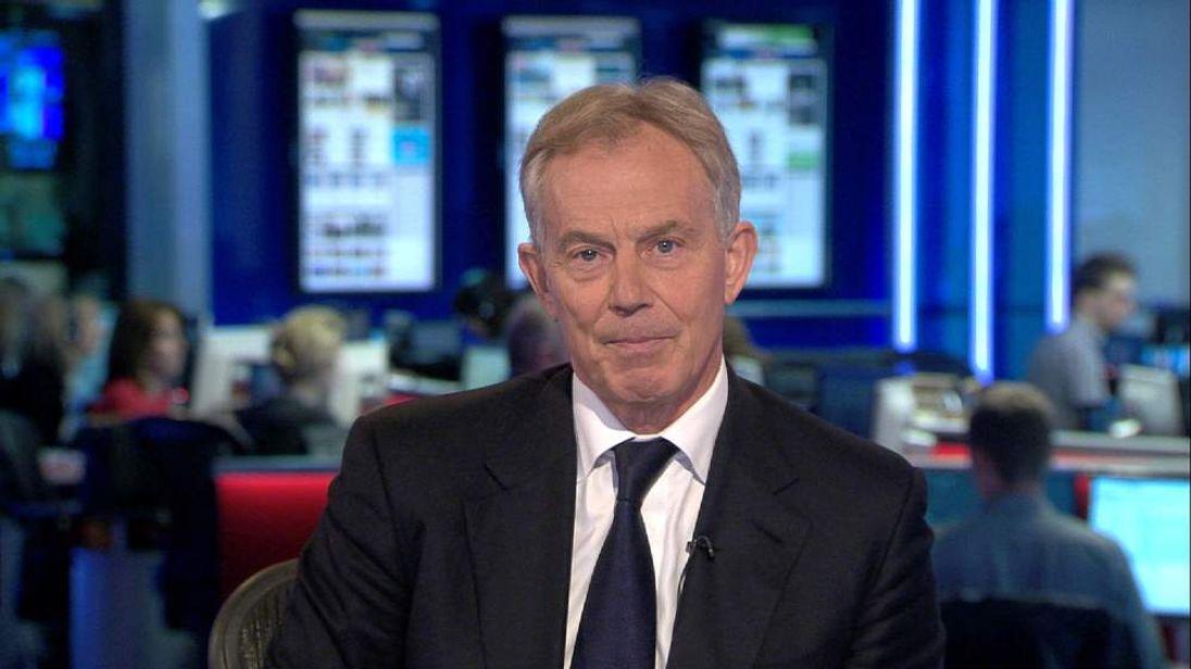 Tony Blair speaks to Sky News