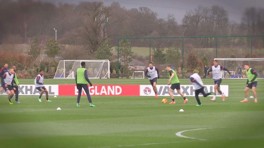 England football squad train ahead of World Cup 2014