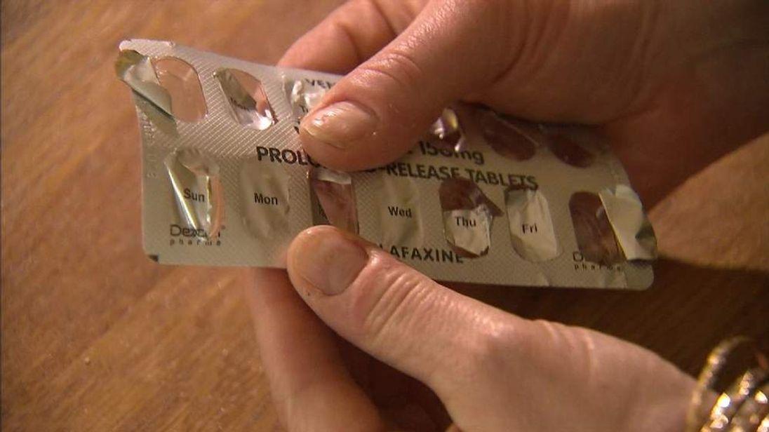 Anti-depressant pills.