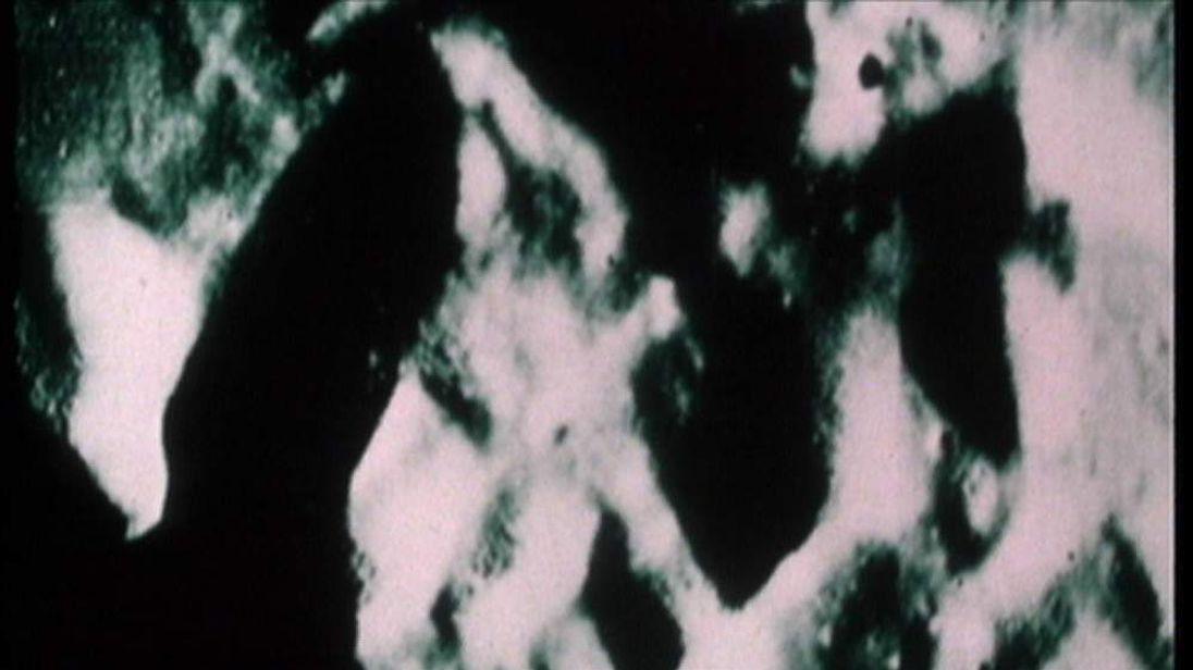 Moon filmed from Apollo 15