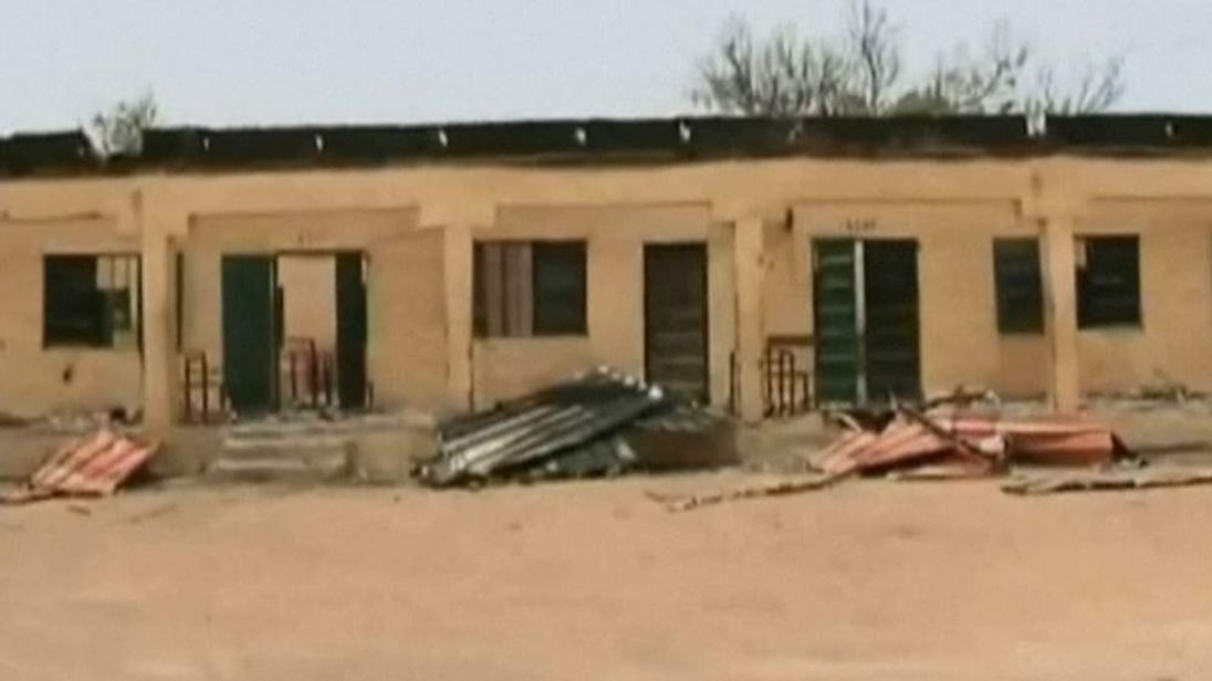 Burnt out Nigeria school where girls were kidnapped from on April 14