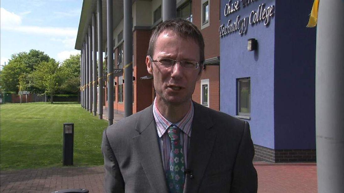Stephen's headteacher Dr Stuart Jones