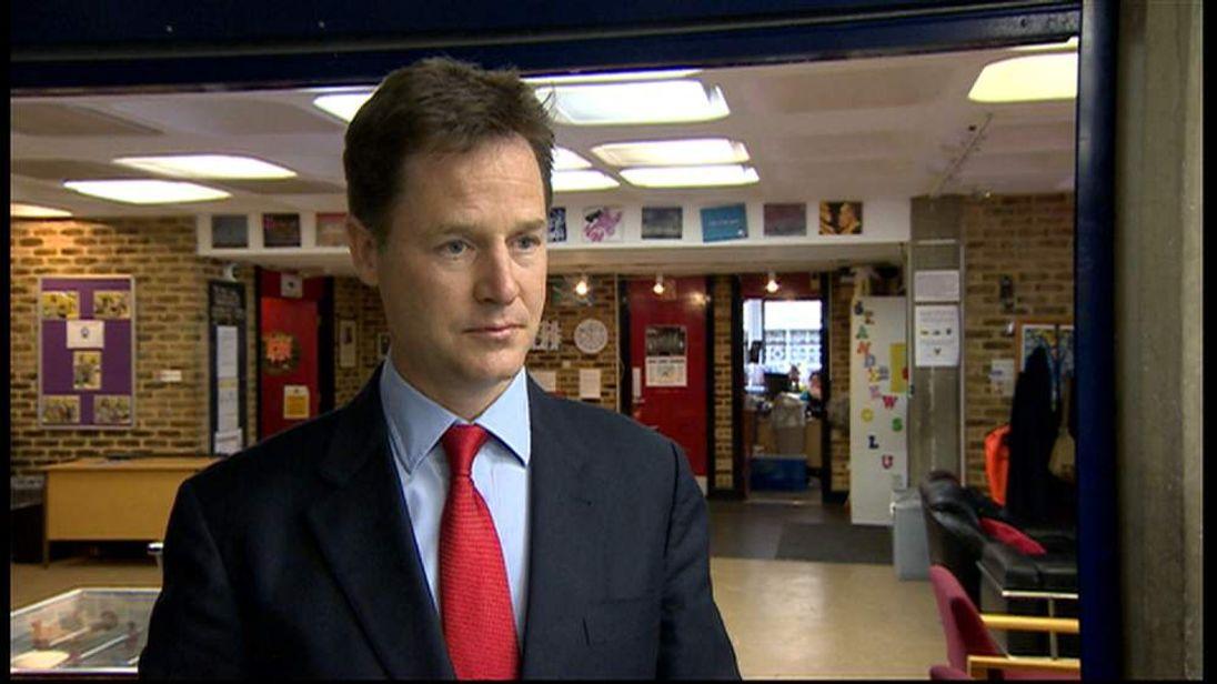 Leader of the Liberal Democrats and Deputy Prime Minister Nick Clegg