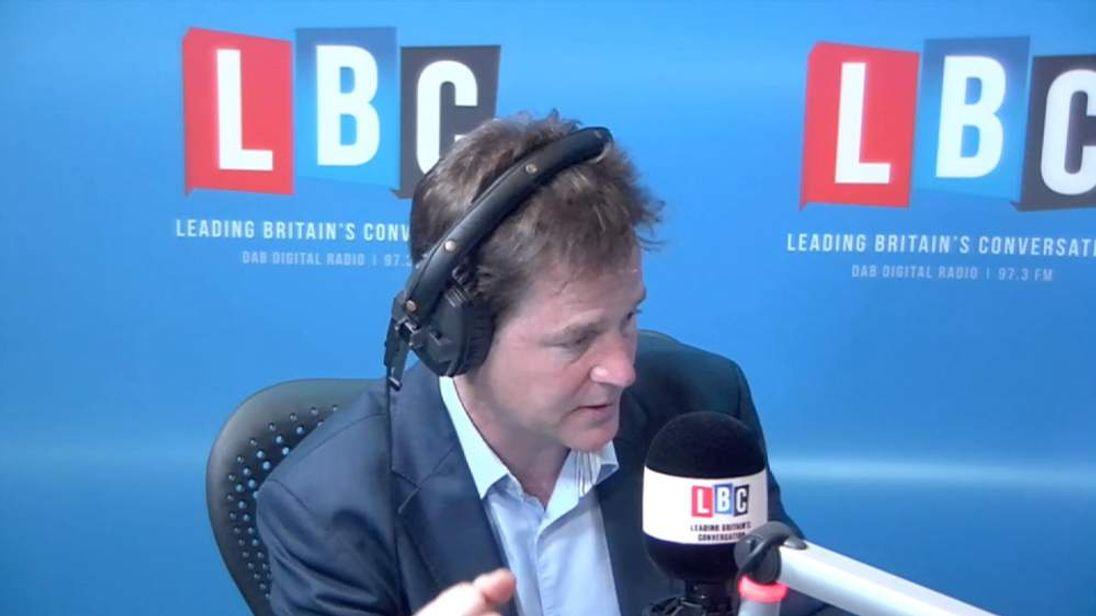 Nick Clegg on LBC Radio show