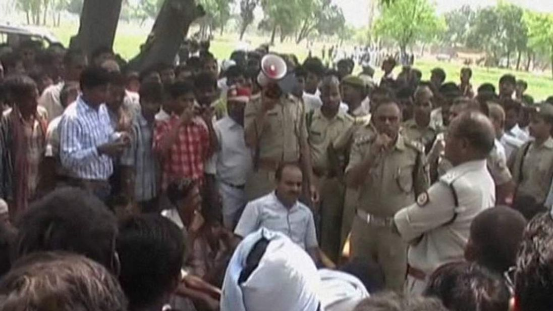 Three men have been arrested over a gang-rape killing in India.