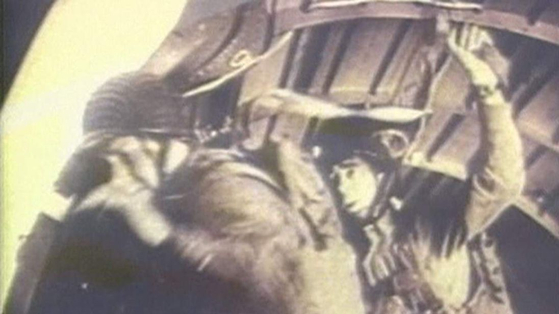 Screengrab of archive footage from D-Day