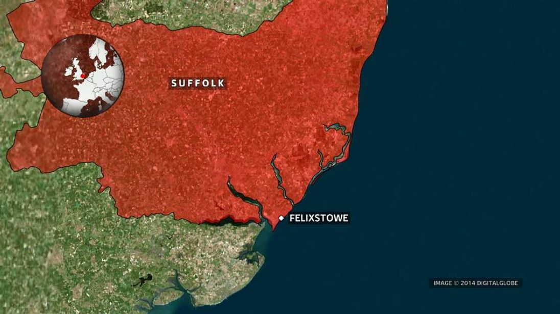 Felixstowe map