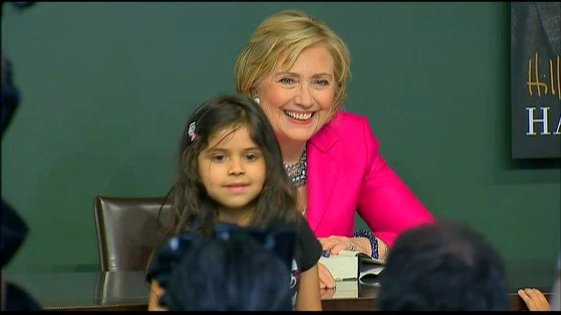 Hillary Clinton at the launch of her book Hard Choices