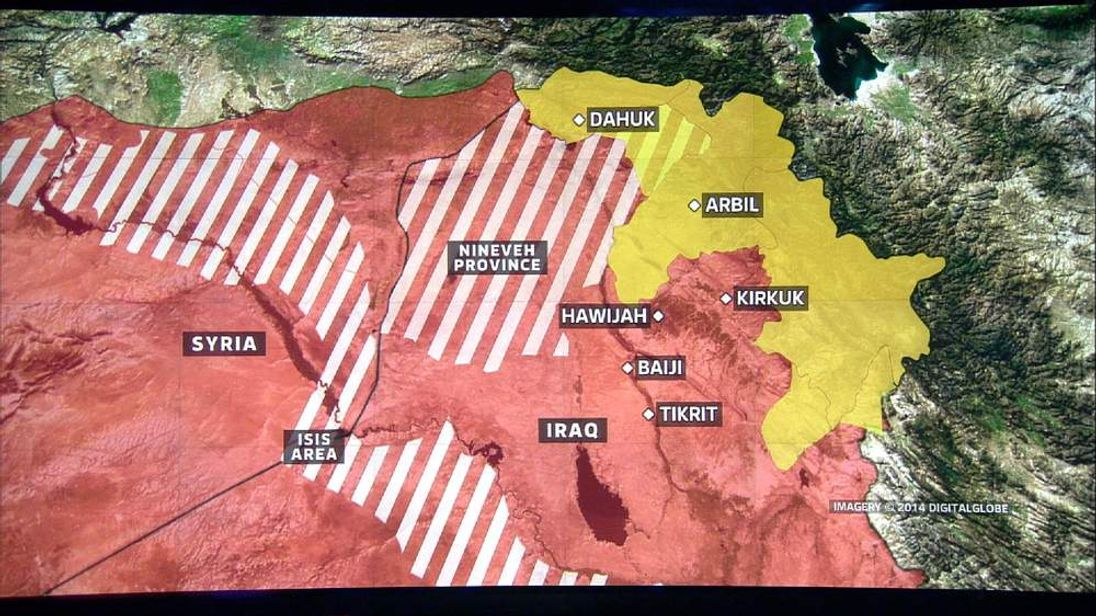 Northern Iraq map