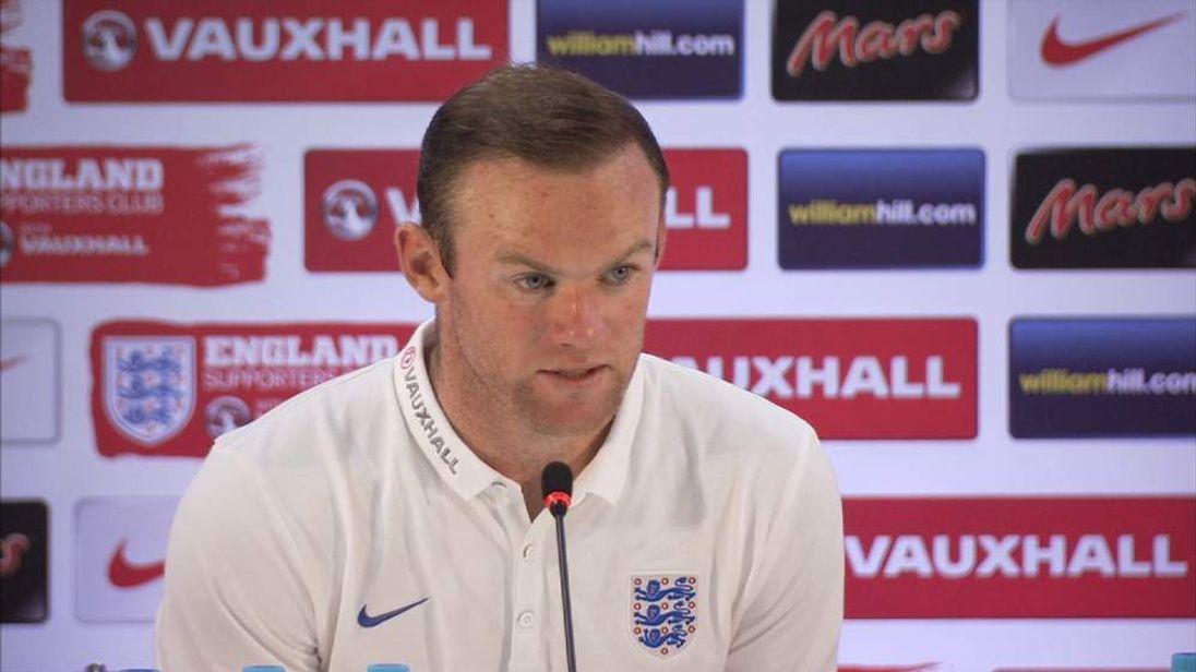 England striker Wayne Rooney.