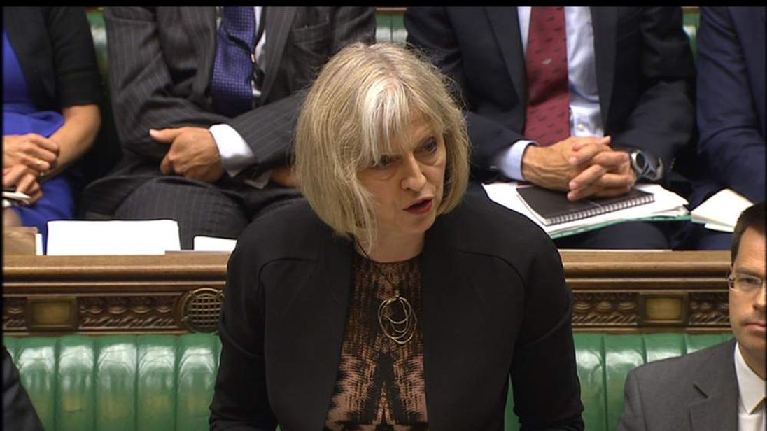 Home Secretary Theresa May MP