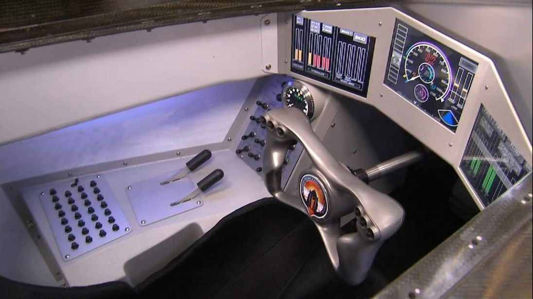 The Cockpit Of The Bloodhound Super Sonic Car