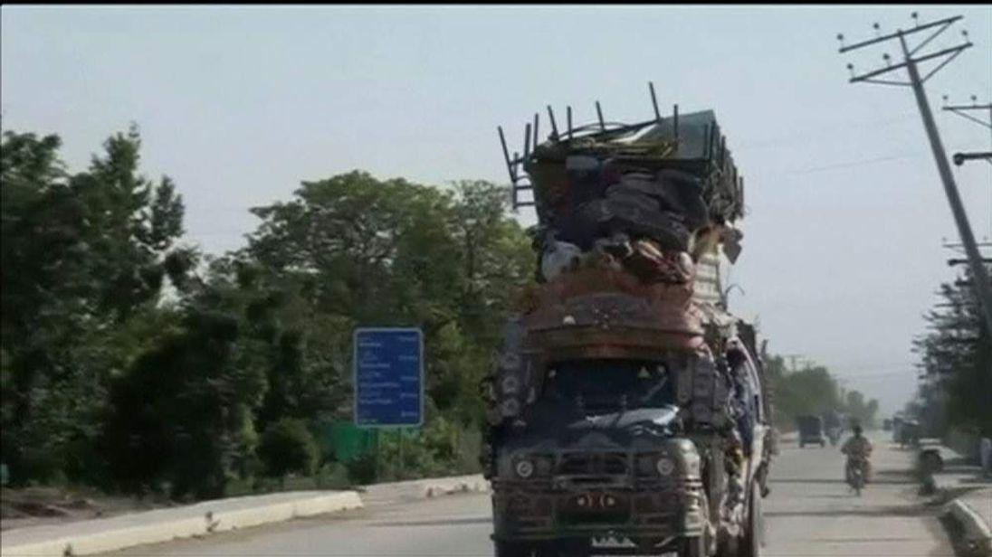 People in Pakistan flee North Waziristan region amid airstrikes