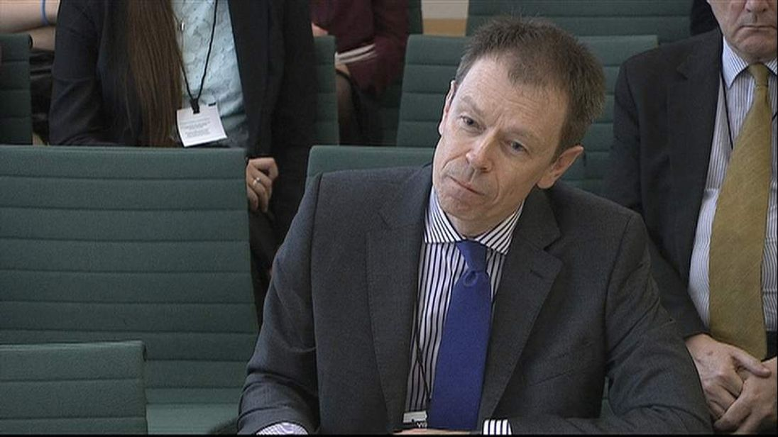 Paul Pugh speaking to the parliamentary select committee