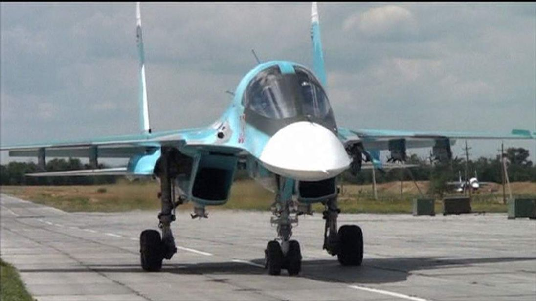 Russian SU-34 Fighter-bombers deployed to Rostov region