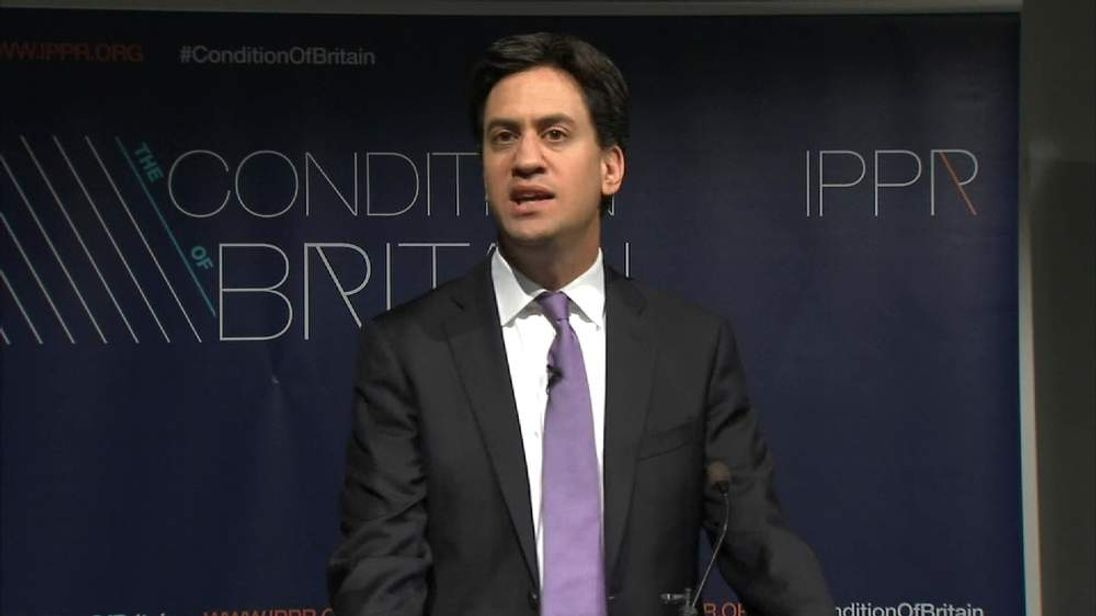 Ed Miliband youth benefits speech
