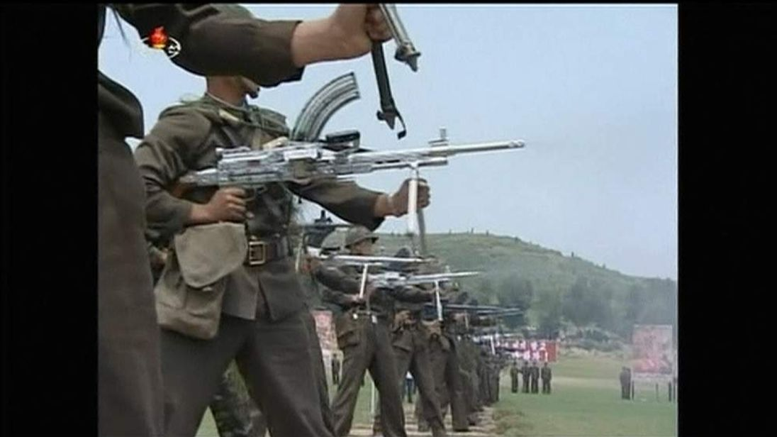 North Korean military fire at US soldier targets