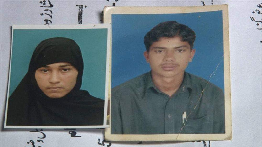 Muafia Bibi and her partner Sajjad Ahmed