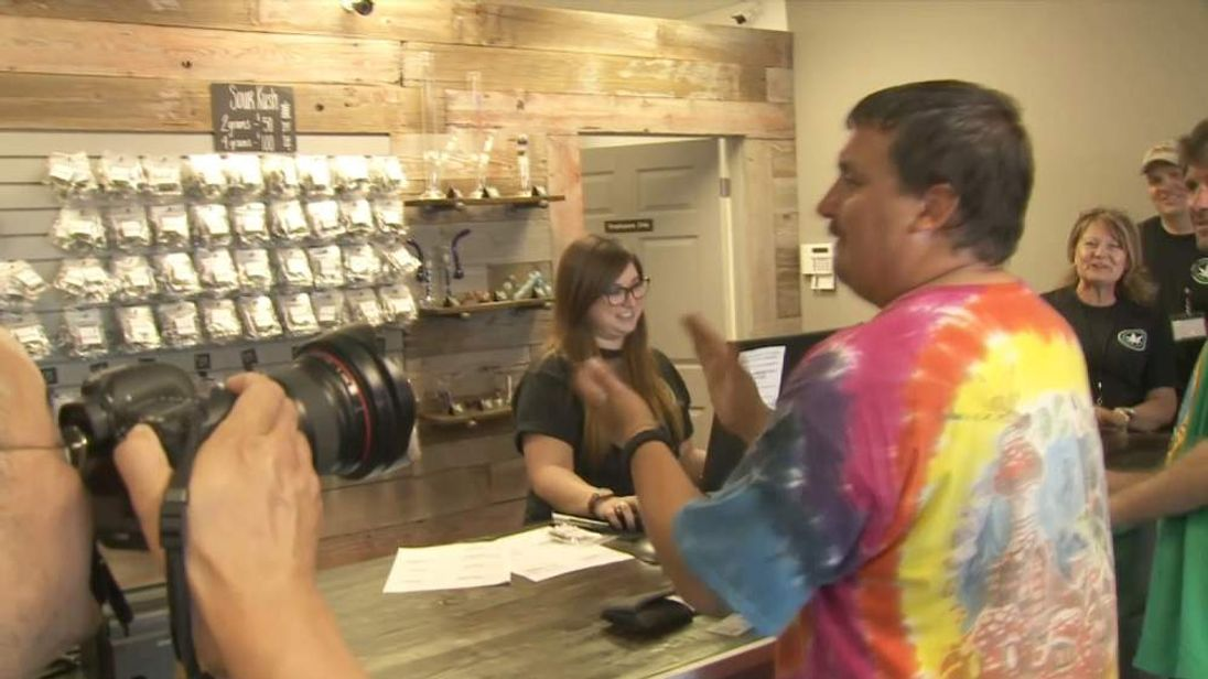 Spokane's first cannabis customer, Michael Kelly Boyer