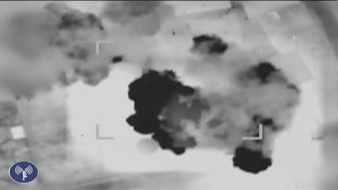 Israel releases footage showing attacks on suspected Hamas targets
