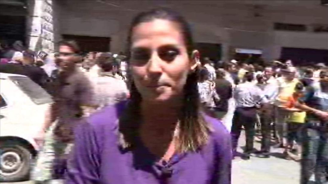 Sherine Tadros in Gaza
