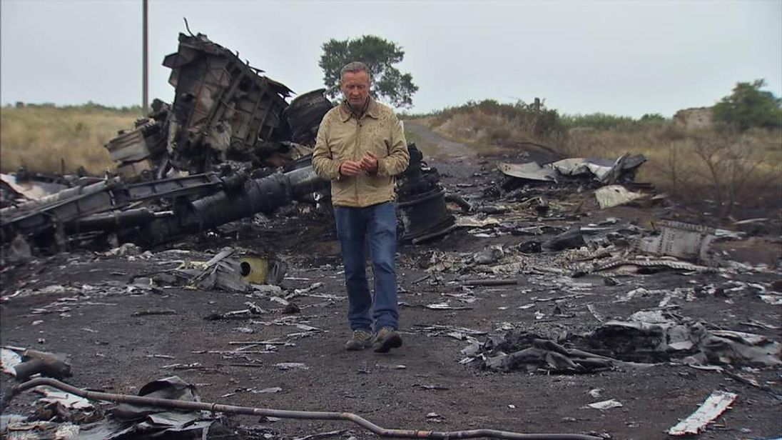 Stuart Ramsay at the crash site of Flight MH17