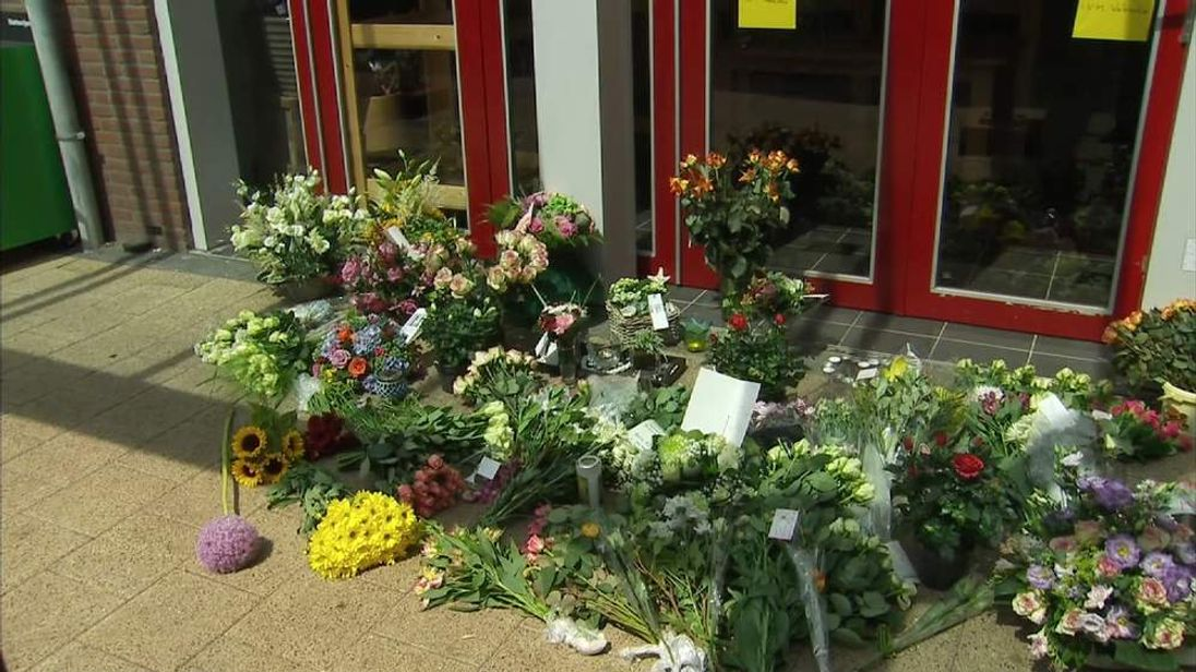 Flowers outside a shop in the Netherlands
