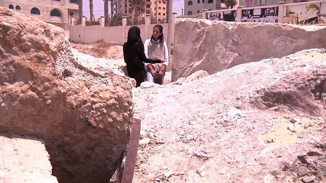 Activist Rina Andolini speaks to Sky's Sherine Tadros