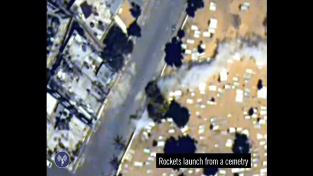 IDF video allegedly shows rockets fired from a graveyard