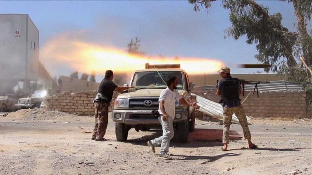 Rebel fighters in Libya fight for control of Tripoli