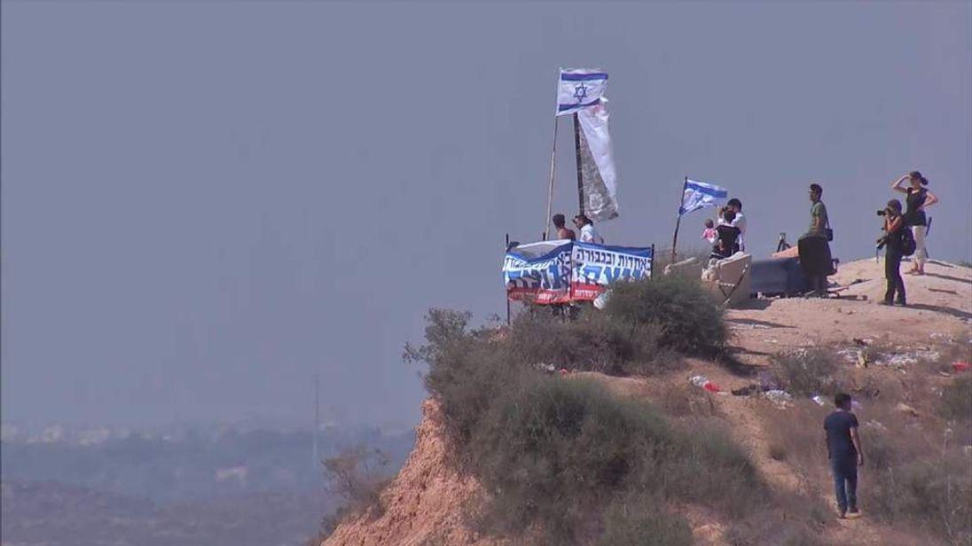 Hilltop in Israel overlooking Gaza